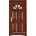 Puerta blindada de madera de acero de estilo turco (LTK-A01)