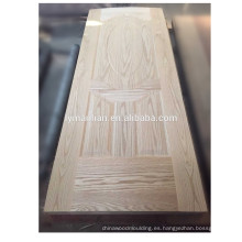 Fábrica moldeada piel china de la puerta de la madera de la puerta de la madera de la puerta de la madera sólida del tablero de la puerta
