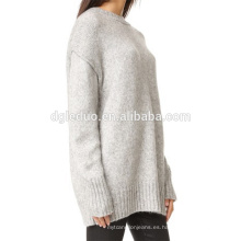 Suéter de encargo de las señoras del diseño de la manga larga al por mayor de O Neck del último