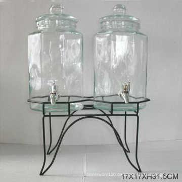 2PCS 5000ml 19gallon großes Glas mit Metallständer