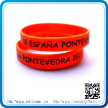 Hot Selling Event Silicon Bracelet with Custom Logo (HN-SW-104)