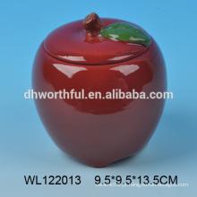 Apple em forma de recipiente de alimentos cerâmicos de alta qualidade