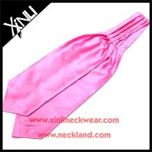 Corbata de Ascot masónica tejida de seda hecha a mano 100% del telar jacquar