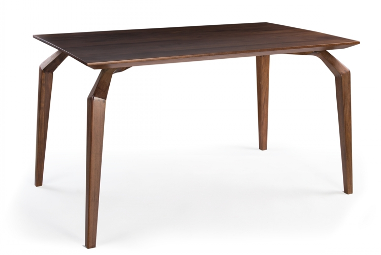 Modern Solid Wooden Walnut Square Restaurant Dining Tables