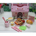 fast food toy packed in wooden house