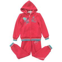 Fleece Kidsgirl Sport Suit for Children ′s Clothing Swg-130