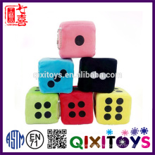 2017 New custom dice toys for kids educational customized color and size with printing or embroidery