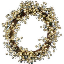 24 po. Golden Starlite Creations Wreath with Batteris Fonctionnant avec 48 LED (MY255.258.00)