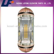 Ascensores / ascensores de cristal de tres lados