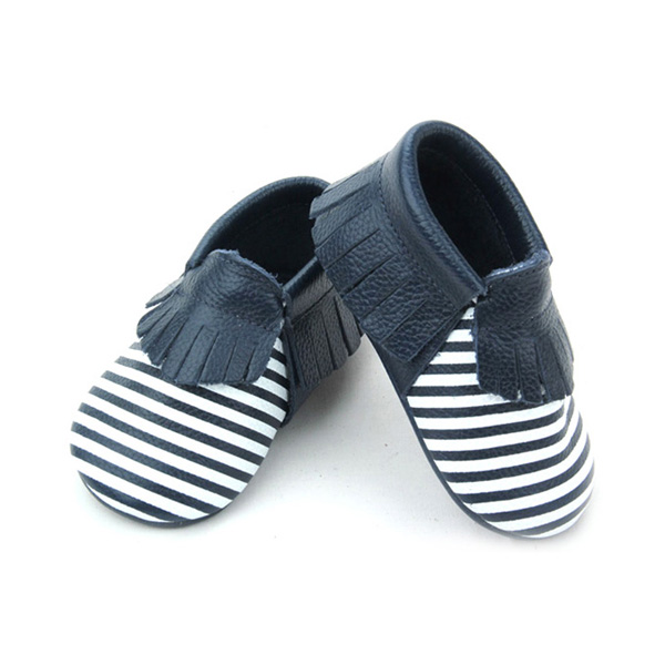 Stripes Baby Moccasins