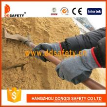 Guantes de trabajo de seguridad con guantes de látex recubiertos de látex Dkl336