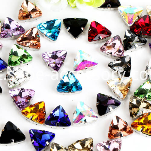 18x18mm triangle stones for sewing