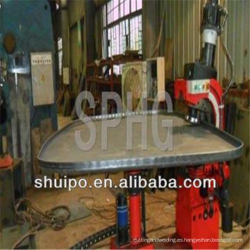 Sin plantilla, pliegue irregular, cabeza, máquina plegadora (máquina de prensado de extremo de tanque)