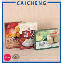 Caixas de papel personalizadas para embalagem de alimentos com doces de biscoito