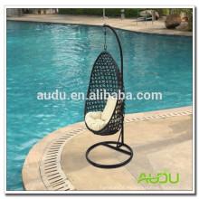 Audu Patio silla de oscilación de jardín de ratán de una sola persona