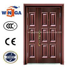 Bronze Farbe Eisen Stahl Metall Sicherheit Kupfer Tür (W-STZ-03)