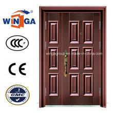 Puerta de cobre de la seguridad del metal del acero del hierro del color de bronce (W-STZ-03)
