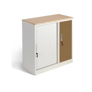 Petit meuble de rangement en métal de bureau avec dessus en MDF