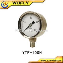 Manómetro manómetro de óleo bourdon tubo