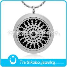 Regalo brillante de Aromatherapy Jewelry Diffuser Round Necklace brillante para la joyería pendiente del aceite esencial