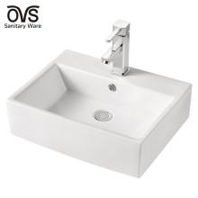 fregadero de cuenco rectangular de baño antiguo