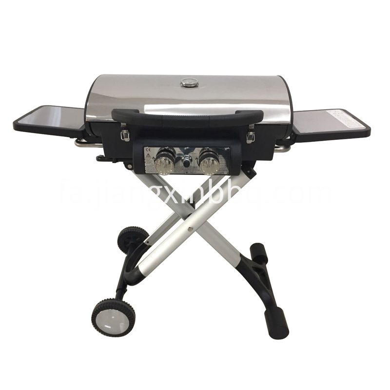 Foldable 2 burners Gas Grill Exposed View