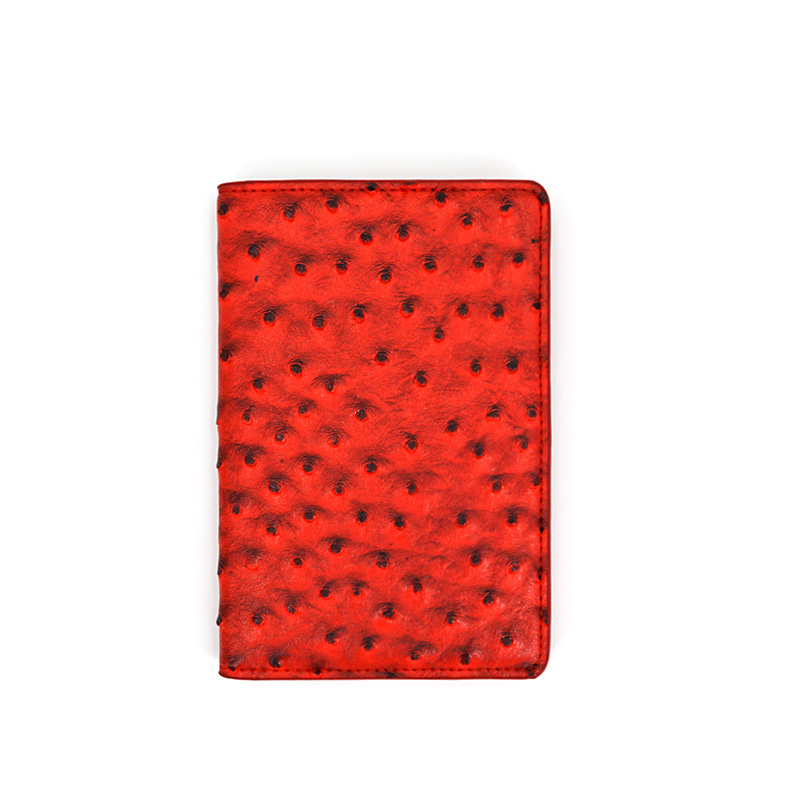 Wholesale Unique Travel Wallet Ostrich Leather Passport Holder