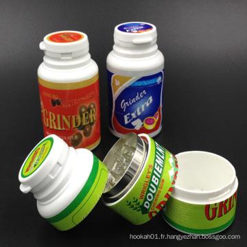 Broyeurs à graminées en plastique pour usage de tabac avec différentes couleurs (ES-GD-001)