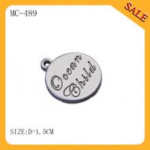 MC489 круглые бирки ювелирных изделий металла, изготовленные на заказ бирки ювелирных изделий ювелирных изделий / шкентели ювелирных изделий & шармы