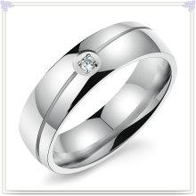 Joyería de cristal joyería de acero inoxidable dedo anillo (SR238)