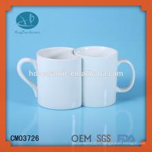 Tasse personnalisée, tasse de couple pour souvenir, tasse en céramique blanche