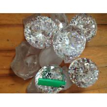 Gemstone de 100 milímetros rodada Cubic Zirconia brilhante tamanho grande estoque 5PC