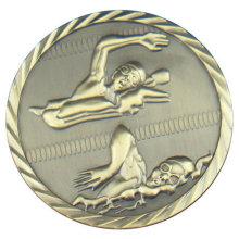 Medalla al por mayor del acontecimiento del deporte de encargo con la galjanoplastia de cobre amarillo antigua