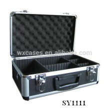 portable aluminum case for camera with adjustable compartments inside manufacturer