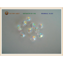 Ab Color Plated Glass Bead (S093)