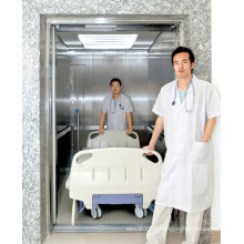 High Speed Stretcher Elevator with Hairline Stainless Steel