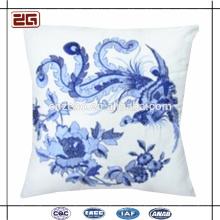 Plain Canvas Jacquard Beautiful Flower Throw Pillows Cushion