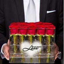 Boîte d'emballage Boîte en fleur acrylique moderne de 16 trous