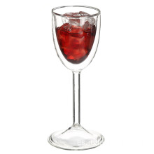 Doble pared vaso transparente vino
