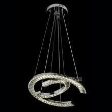 lampes en cristal décoratives en acier inoxydable