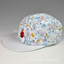 5 panel hat with 3d embroidery