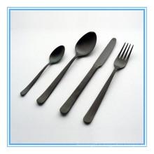 Черная титановая отделка высококачественная посуда столовые приборы