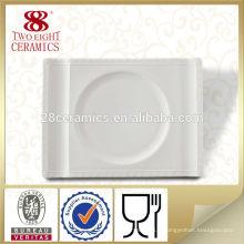 Vaisselle indienne assiettes et assiettes rectangulaires en porcelaine blanche