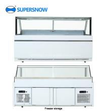 Expositor comercial de vidro quadrado para geladeira