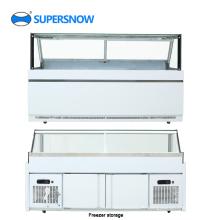 Quadratisches Glas kommerzielles Display Kühlschrank Vitrine