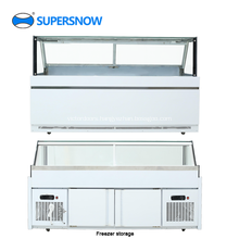 Square glass commercial display refrigerator showcase