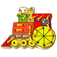 Juguete de madera del tren del lazo para el bebé (80162)