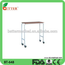steel power coated frame Overbed Table