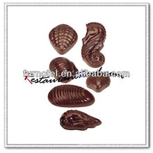 V154 PC Plastic 6 Tipos de molde de chocolate con forma de carcasa