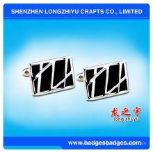 Gemelos de Swank de plata de alta calidad de encargo de la fábrica